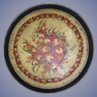 Antique French Puente Toleware Tray, 19th century, museum quality