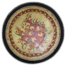 Antique French Piente Tole Tray, 19th century, museum quality