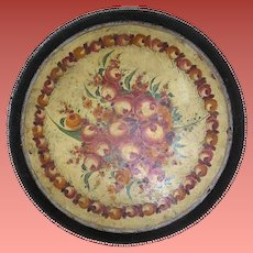Antique tole tray, hand painted, all original, 19th century, museum quality