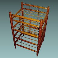 Antique primitive, maple, handturned, store pie rack, display stand