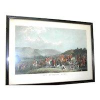Vintage  hunt scene print of The Wynnstay Hunt by W. T. Daley