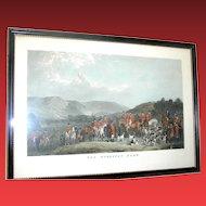 Vintage Original hunt scene print of The Wynnstay Hunt by W. T. Daley