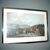 Vintage  hunt scene print of The Wynnstay Hunt by W. T. Daley