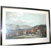 Original hunt scene print of The Wynnstay Hunt by W. T. Daley