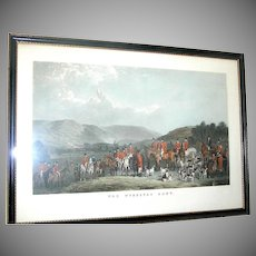 Original hunt scene print of The Wynnstay Hunt by W. T. Daley