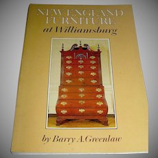 Vintage book, New England Furniture of Williamsburg, 1975