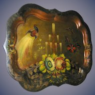 Antique Tole Tray Chippendale style late 19th. C.
