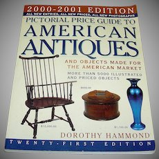 Vintage book, Pictorial Price Guide To American Antiques, 2000-2001
