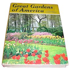 Vintage Book, Great Gardens of America, Carroll C. Calkings, Calward-Mcman Inc. 1969