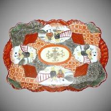 Vintage Japanese oriental Kutani tray