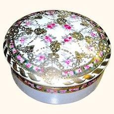 Vintage Nippon Covered Dish Vanity Item marked
