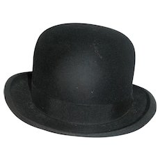 Vintage Men's Hat, Bowler, early 20th c.