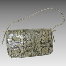 Vintage Snake-skin Ladies Handbag or Purse with Strap Boa