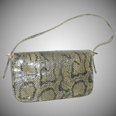 Vintage Snakesking Ladies Handbag or Purse with Snakeskin Strap