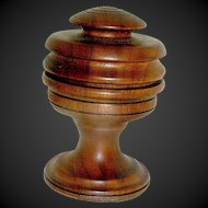 Wood Treen Hand Turned Trinket Box