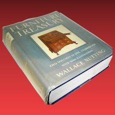 Vintage Book Furniture Treasury Two Volumes In One Unabridged Wallace Nutting MACMILLAN COMPANY 1961