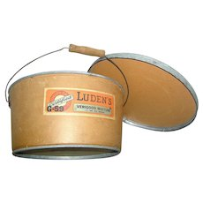 Advertising Store Container Luden's Candiesearly 20th c