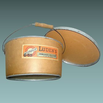 Vintage Advertising Store Container, Verigood, Luden's Candies, early 20th century