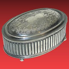 Vintage Silverplate Box signed Knickerbocker Silver Company