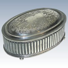 Vintage Silverplate Box signed Knickerbocker Silver Company