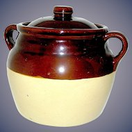 Stoneware Bean Pot Monmouth, Ill. USA