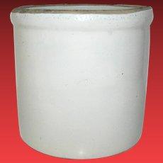 Vintage Stoneware Crock Primitive Gray Rustic