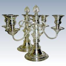 Vintage Pair Silverplate Candlelabrum