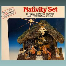 Vintage Manger Nativity Scene by Moranduzzo of Italy