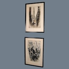Pair of Alonzo Webb prints, signed and dated 1930