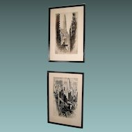 Vintage Pair of Alonzo Webb (1880-1975) prints, signed and dated  1930