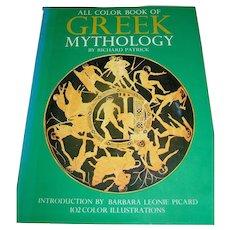 Vintage book, All Color Book Of Greek Mythology by Richard Patrick 1972