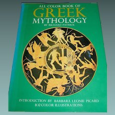 Vintage book, All Color Book Of Greek Mythology by Richard Patrick 1972