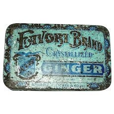Antique Store Advertising Tin Favori Brand by Mitchell Fletche & Co,