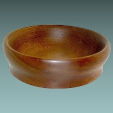 Vintage Treen Bowl Turned Walnut Early 20th c.