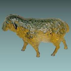 Cast Iron Still Bank of a Sheep all Original