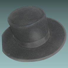 Vintage Amish Men's Felt Hat from Lancaster Co. PA