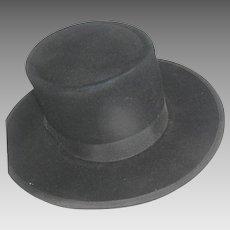 Vintage Amish Men's Felt Hat from Lancaster Co. PA