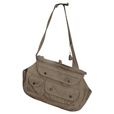 Vintage Canvas Fishing Bag with pockets