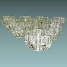 Vintage Set of 10 Individual Crystal matching Salts