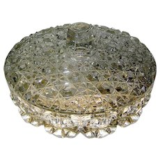 Vintage Crystal Candy Dish with three divided sections