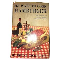 Vintage Book Cookbook Hamburger Meat