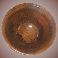 Vintage Treen Walnut  Bowl mid century
