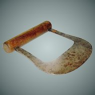 Vintage Chopper Cast with A Turned Cherry handle
