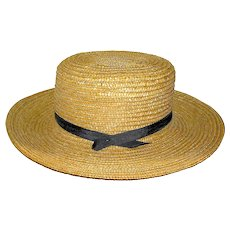 Vintage Amish Straw Hat Lancaster Valley PA