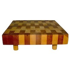 Vintage Cutting Board, Cheese board, chopping block, treen platform