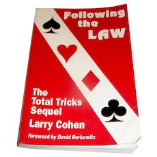 Vintage book, Following the Law, The Total Tricks Sequel, Larry Cohen, 1984