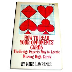 Vintage Book, How To Read Your Opponents' Cards, Mike Lawrence, second edition 1986