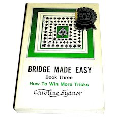 Vintage Book, Bridge Made Easy, Caroline Sydnor, Book Three