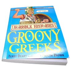 Vintage Book, Horrible Histories, Groovy Greeks, Terry Deary