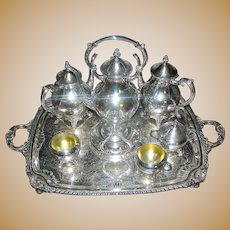 Silverplate Seven piece tea and coffee service by F. B. Rogers Silver Company Exceptional